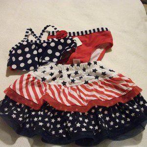 18 month Patriotic themed swim wear